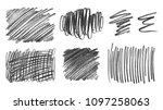 collection of grunge graphite... | Shutterstock . vector #1097258063