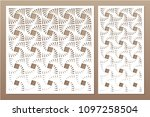 set decorative card for cutting ...   Shutterstock .eps vector #1097258504