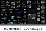 glitch elements set. computer... | Shutterstock .eps vector #1097261978