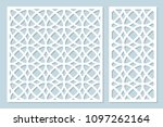 set decorative card for cutting ... | Shutterstock .eps vector #1097262164