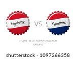 soccer championship   england... | Shutterstock .eps vector #1097266358