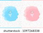cute vector watercolor splash....   Shutterstock .eps vector #1097268338