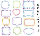 hand drawn frames | Shutterstock .eps vector #109726838