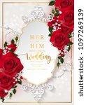 wedding invitation card... | Shutterstock .eps vector #1097269139