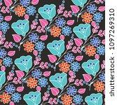 floral pattern in vector   Shutterstock .eps vector #1097269310
