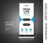 roll up banner design template  ... | Shutterstock .eps vector #1097271623