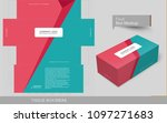 abstract flat colors tissue box ... | Shutterstock .eps vector #1097271683