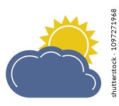 partly cloudy icon. weather... | Shutterstock .eps vector #1097271968