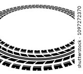 black tire track silhouette in...   Shutterstock .eps vector #1097272370