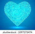 vector 3d hexagon hearts. on a...   Shutterstock .eps vector #1097273474