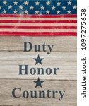 duty honor and country message  ... | Shutterstock . vector #1097275658