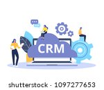 crm concept design with vector...   Shutterstock .eps vector #1097277653