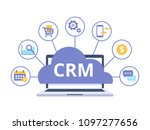 crm concept design with vector...   Shutterstock .eps vector #1097277656