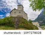 burg gutenberg in the alps.... | Shutterstock . vector #1097278028