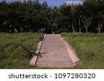 outdoor huge stairs | Shutterstock . vector #1097280320
