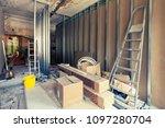 working process of installing ... | Shutterstock . vector #1097280704