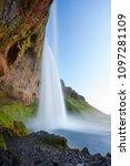 seljalandsfoss waterfall during ...   Shutterstock . vector #1097281109