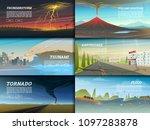 set of natural disaster or...   Shutterstock .eps vector #1097283878