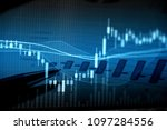 financial service concept with...   Shutterstock . vector #1097284556