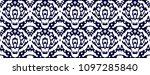 ikat seamless pattern. vector... | Shutterstock .eps vector #1097285840