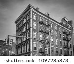 black and white picture of an...   Shutterstock . vector #1097285873