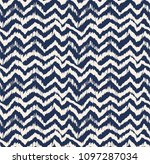 ikat seamless pattern. vector... | Shutterstock .eps vector #1097287034