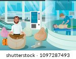 business man relax in massage... | Shutterstock .eps vector #1097287493