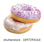 sweet donut isolated with... | Shutterstock . vector #1097293163