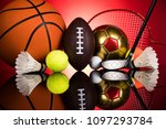 sport equipment and balls | Shutterstock . vector #1097293784