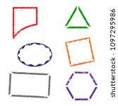 stamps frames on white...   Shutterstock .eps vector #1097295986