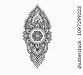 beautiful mehndi pattern with... | Shutterstock .eps vector #1097299223