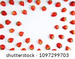 Strawberry On White Background...
