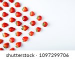 strawberry on white background  ... | Shutterstock . vector #1097299706