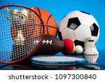 assorted sports equipment | Shutterstock . vector #1097300840