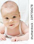 Portrait of cute baby girl. - stock photo