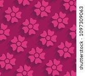 pink seamless floral pattern | Shutterstock .eps vector #1097309063