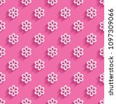 a pink seamless background with ... | Shutterstock .eps vector #1097309066