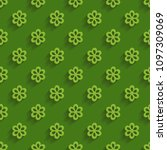 green seamless papttern with... | Shutterstock .eps vector #1097309069