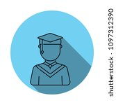 graduate male avatar icon.... | Shutterstock .eps vector #1097312390