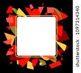 frame art colorful design...   Shutterstock .eps vector #1097314340