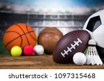 sport equipment  soccer tennis... | Shutterstock . vector #1097315468