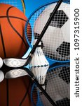 sport equipment and balls | Shutterstock . vector #1097315900