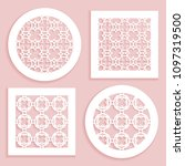 templates for laser cutting ... | Shutterstock .eps vector #1097319500