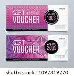 gift voucher template design. | Shutterstock .eps vector #1097319770