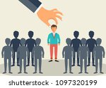 find the right person for the... | Shutterstock .eps vector #1097320199