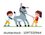 smiling preschool kids girl...   Shutterstock .eps vector #1097320964