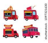 food van vector collection | Shutterstock .eps vector #1097321630