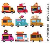 food van vector collection | Shutterstock .eps vector #1097321636