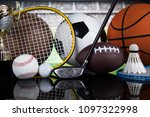 assorted sports equipment | Shutterstock . vector #1097322998