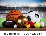 balls  sports equipment | Shutterstock . vector #1097323154